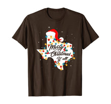 Load image into Gallery viewer, Merry Christmas Texas With Santa Hat Pajama Gift T-Shirt
