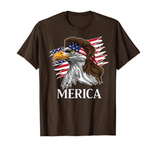 Load image into Gallery viewer, Patriotic Mullet Eagle Merica American Flag 4th of July Tee T-Shirt
