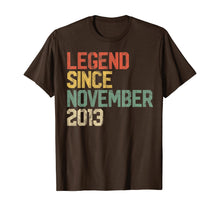 Load image into Gallery viewer, Legend Since November 2013 6th Birthday Gift 6 Year Old T-Shirt