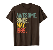 Load image into Gallery viewer, Awesome since May 1969 T-Shirt Vintage 50th Birthday gift