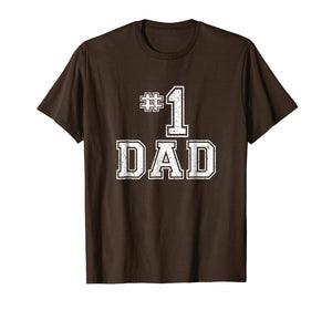 #1 Dad Number One Father's Day Vintage Style T-Shirt