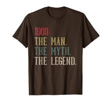 Load image into Gallery viewer, 1969 The Man Myth Legend T-Shirt 50th Birthday Vintage Tee
