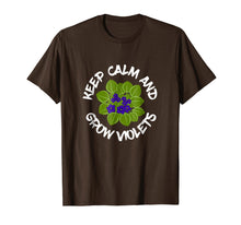 Load image into Gallery viewer, Keep Calm And Grow African Violets Potted Plant T-Shirt
