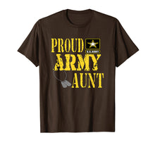 Load image into Gallery viewer, Proud Army Aunt Shirt Military Pride T Shirt