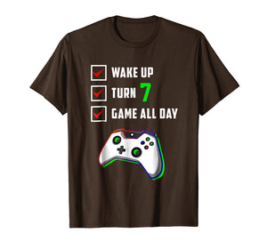 7th Gamer Birthday Shirt Level 7 Unlocked T Shirt Gifts