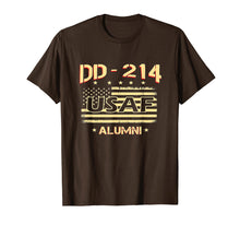 Load image into Gallery viewer, Air Force Alumni DD-214 Vintage American Flag T-Shirt