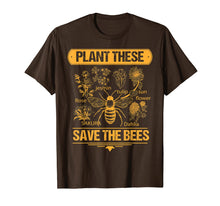 Load image into Gallery viewer, Plant These Trees Save The Bees Tee Honey Queen Bee T Shirt
