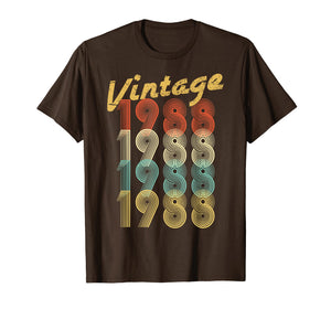 1988 Vintage Funny 31st Birthday Gift Shirt For Him or Her