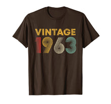 Load image into Gallery viewer, 56th Birthday Gift Idea Vintage 1963 T-Shirt Men Women