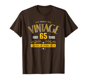 65th Birthday Shirt Gift -AGED 65 Years Old Gag Birthday Tee