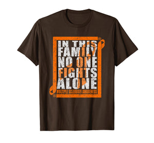 No One Fights Alone MS Multiple Sclerosis Awareness T-shirt