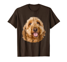 Load image into Gallery viewer, Big Face Golden doodle Dog Tee Golden doodle Funny T shirt