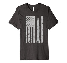 Load image into Gallery viewer, Saturn V Rocket Vintage Flag Space Apollo Astronomy T-shirt