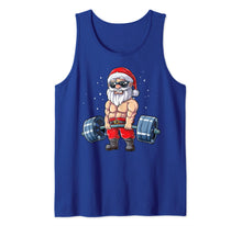 Load image into Gallery viewer, Santa Weightlifting Christmas Fitness Gym Deadlift Xmas Men Tank Top