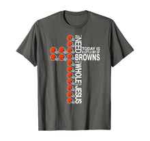 Load image into Gallery viewer, Merry Christmas Cross Football Team Cleveland-Brown Xmas T-Shirt