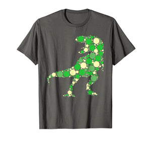 Green Polka Dot T Rex Dinosaur International Dot Day T-Shirt