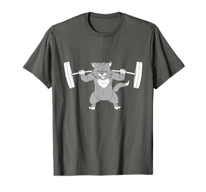 Cat Squat Powerlifting T-Shirt Remmy