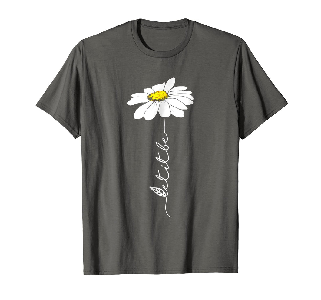 Let It Be Hippie Flower T-Shirt Gift