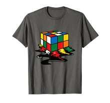 Load image into Gallery viewer, Melting Rubik Cube Shirt | Cool Online Rubik Solver Tee Gift