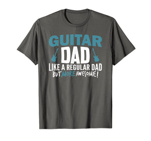 Mens Guitar Dad Shirt Awesome Fathers Day Gift Player Musician