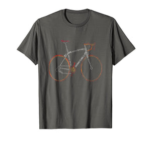Bicycle Amazing anatomy tshirt - cool tshirt for cyclist