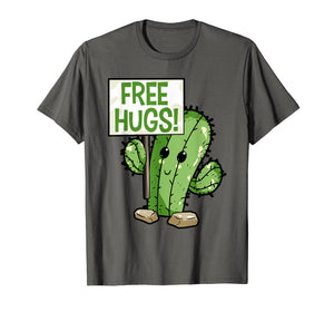 Cactus Free Hugs T-Shirt Cute Cactus Tee for Youth Kids