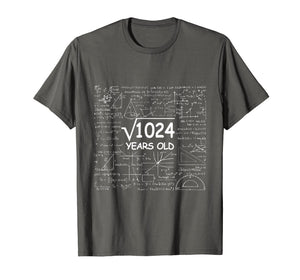 32nd Birthday Gift 32 Years Old - Square Root of 1024 Shirt