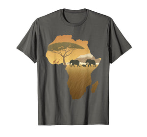 Africa T-Shirt Elephant Map Dad South Animal Big Five Safari