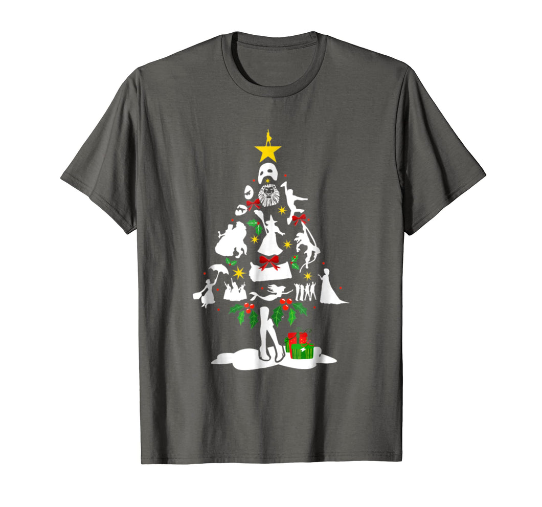 Broadway Musical Theatre Christmas Tree T- shirt