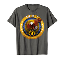 Load image into Gallery viewer, Apollo 11 Golden 50th Anniversary Eagle and Moon T Shirt Tee