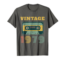 Load image into Gallery viewer, 40th Birthday Gift Vintage 1979 Year Old Mixtape T-Shirt