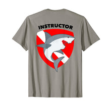 Load image into Gallery viewer, SCUBA Dive Flag Shark T-Shirt for Divemasters Instructors