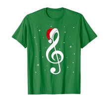 Load image into Gallery viewer, Musical Note Santa Hat Music Lover Merry Christmas Gifts T-Shirt