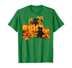 Black Cat Pumpkin Halloween Costume Funny T-Shirt