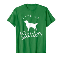 Load image into Gallery viewer, Life is Golden retriever dog t-shirt