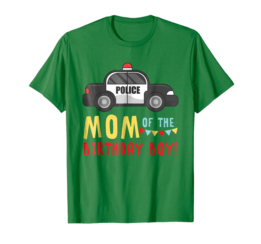 Police Car Mom Of The Birthday Boys T-shirt