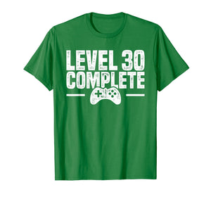Level 30 Complete - Gamer 30th Birthday Gift T-Shirt