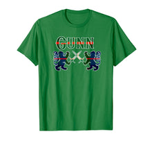 Load image into Gallery viewer, Clan Gunn Scottish T-Shirt Family Kilt Tartan Lion Gift