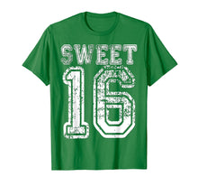 Load image into Gallery viewer, 16th Birthday Shirt Gift Teen Sweet Sixteen 16 Varsity Crack