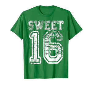 16th Birthday Shirt Gift Teen Sweet Sixteen 16 Varsity Crack
