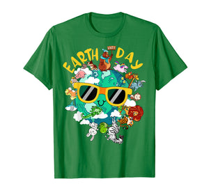 Earth day shirt Kids Women Men Nature Animal sunglasses Gift