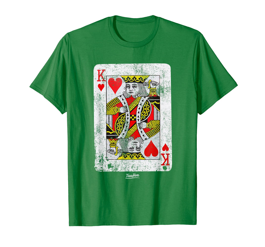 King Of Hearts Poker Player Poker Card Cool Poker Shirts