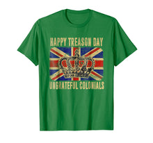 Load image into Gallery viewer, British Flag Happy Treason Day Ungrateful Colonials T-shirt