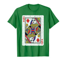 Load image into Gallery viewer, Queen of Diamonds Poker Lover Gifts Playing Card T-Shirt