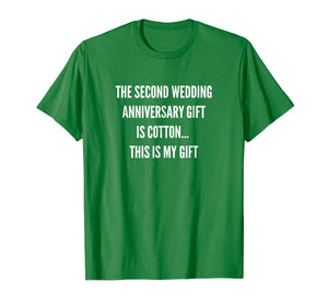2nd Wedding Anniversary Gifts Cotton Him Husband Her T-Shirt