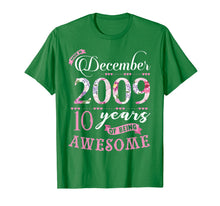 Load image into Gallery viewer, Birthday Gifts Floral Tee for Girls Born in December 2009 T-Shirt