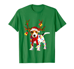 Santa jack russell gorgeous reindeer Light Christmas Lover T-Shirt