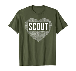 Proud Scout Heart Scouting Leader Gift T-Shirt