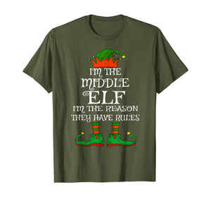 Middle Elf Family Matching Funny Christmas Pajama Party Gift T-Shirt