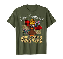 Load image into Gallery viewer, One Thankful GiGi Turkey Leopart Thankgivings T-Shirt